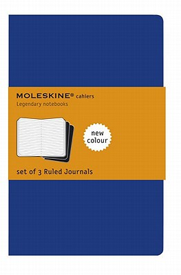 Moleskine Cahier Journal (Set of 3), Pocket, Ruled, Indigo Blue, Soft Cover (3.5 x 5.5) (Cahier Journals) Cover Image
