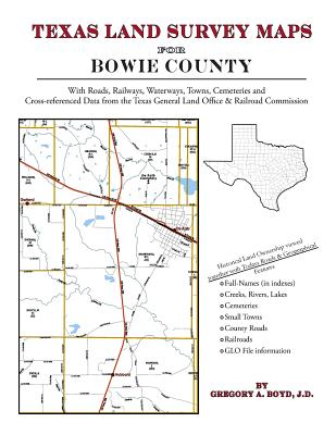 Texas Land Survey Maps for Bowie County Cover Image