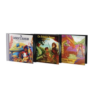 Jim Weiss Dragon Trilogy Bundle: My Father's Dragon; The Reluctant Dragon & The Dragon Diaries Cover Image