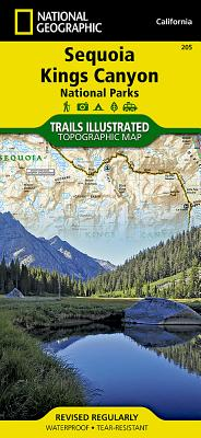 Sequoia and Kings Canyon National Parks (National Geographic Trails Illustrated Map #205) Cover Image