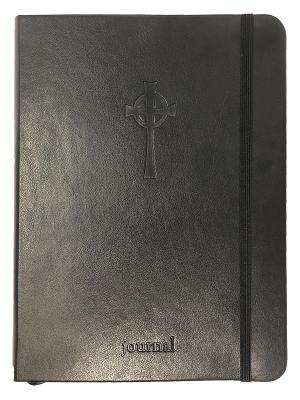 Cover for The Celtic Cross Essential Journal (Black LeatherLuxe®) (The Essential Journal Collection)