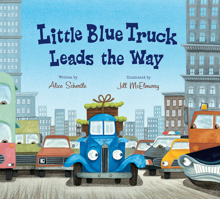 Little Blue Truck Leads the Way (lap board book) Cover Image