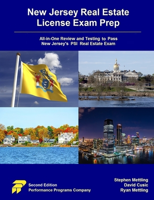 New Jersey Real Estate License Exam Prep: All-in-One Review and Testing to Pass New Jersey's PSI Real Estate Exam Cover Image
