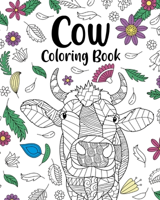 Cow Coloring Book Cover Image