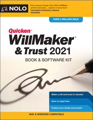 Quicken Willmaker & Trust 2021: Book & Software Kit Cover Image