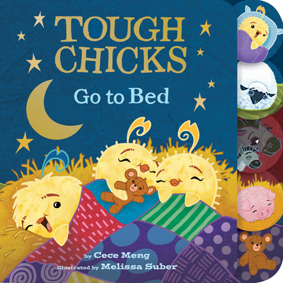 Tough Chicks Go to Bed (tabbed touch-and-feel board book) Cover Image