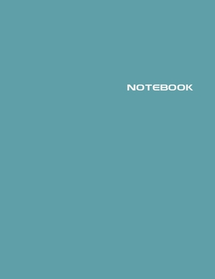 Notebook: Lined Notebook Journal - Stylish Voyage Blue - 120 Pages - Large 8.5 x 11 inches - Composition Book Paper - Minimalist Cover Image