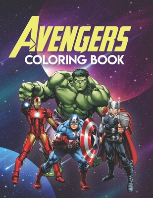 Avengers Coloring Book: Marvel Avengers Adult Coloring Book, Coloring Book Avengers Cover Image