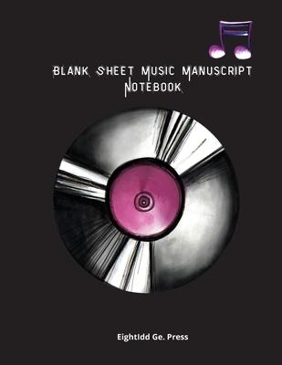 Blank Sheet Music Manuscript Notebook Cover Image