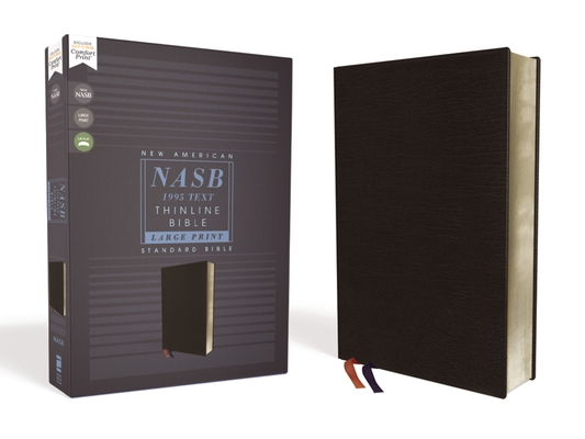 Nasb, Thinline Bible, Large Print, Bonded Leather, Black, Red Letter Edition, 1995 Text, Comfort Print Cover Image