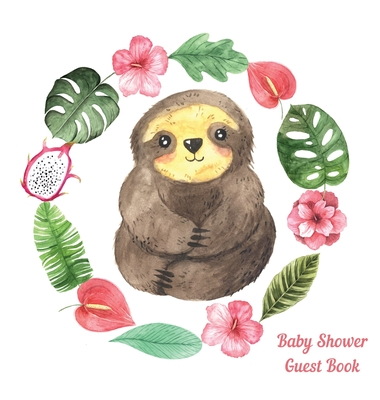 Sloth Baby Shower guest book Cover Image