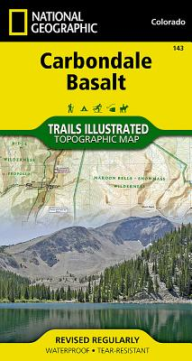 Carbondale, Basalt (National Geographic Trails Illustrated Map #143) Cover Image