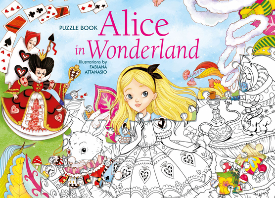 Alice in Wonderland Puzzle Book Cover Image