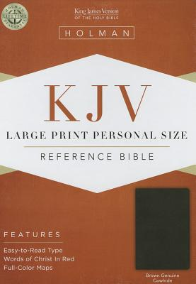 Cover for KJV Large Print Personal Size Reference Bible, Brown Genuine Cowhide