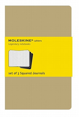 Moleskine Cahier Journal (Set of 3), Large, Squared, Kraft Brown, Soft Cover (5 x 8.25): set of 3 Square Journals (Cahier Journals) Cover Image