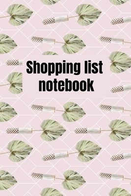 Shopping List Notebook: Organizational Log Book, Planner Cover Image