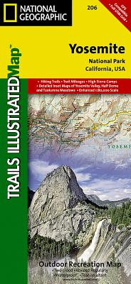 Yosemite National Park (National Geographic Trails Illustrated Map #206) Cover Image
