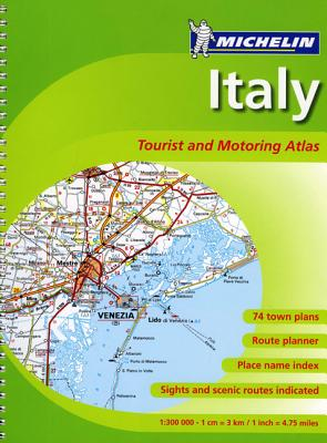 Michelin Italy Tourist and Motoring Atlas Cover Image