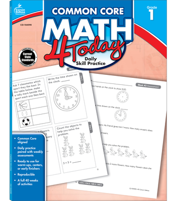 Common Core Math 4 Today, Grade 1 (Common Core 4 Today) Cover Image