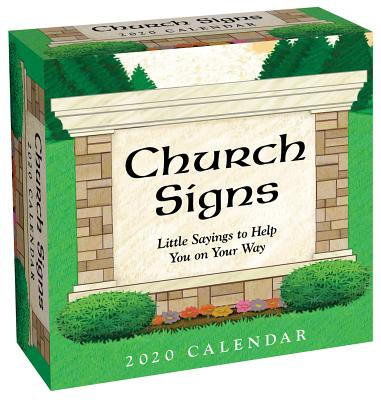 Church Signs 2020 Day-to-Day Calendar Cover Image