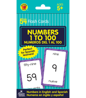 Numbers 1 to 100 Flash Cards: Numeros del 1 Al 100 (Brighter Child Flash Cards) Cover Image