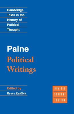 Paine: Political Writings (Cambridge Texts in the History of Political Thought) Cover Image