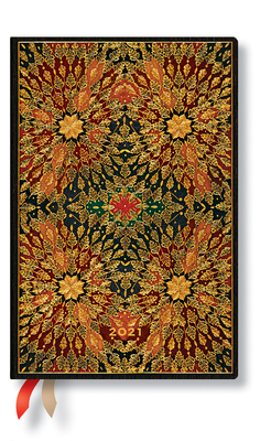 Paperblanks 2021 Fire Flowers Mini 12-Month Cover Image