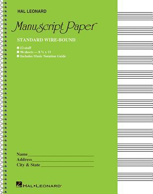 Standard Wirebound Manuscript Paper (Green Cover) Cover Image