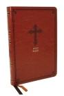 Kjv, Thinline Bible, Leathersoft, Brown, Red Letter Edition, Comfort Print Cover Image