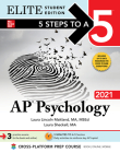 5 Steps to a 5: AP Psychology 2021 Elite Student Edition Cover Image