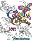 Coloring Calendar 2017 Butterflies Cover Image