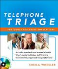 Telephone Triage: Protocols for Adult Populations [With CD (Audio)] Cover Image