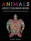 Animals Adult Coloring Book: 50 Detailed animal designs for relaxation and stress relief Cover Image