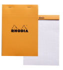 Rhodia Classic Graph 6 X 8 1/4 A5 Orange Cover Notepad Cover Image