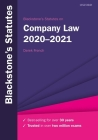 Blackstone's Statutes on Company Law 2020-2021 Cover Image