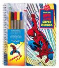 Draw the Marvel Comic Super Heroes: A Mighty Manual of Massively Amazing Step-By-Step Instruction [With 4 Felt Markers and Drawi Cover Image