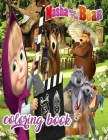 masha and the bear: masha and the bear coloring book for kids Cover Image