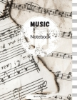 Music Notebook: Blank Sheet Music Notebook, Song Writing Journal, 8,5x11 Inches Cover Image