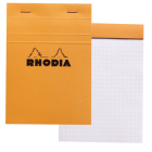 Rhodia Classic Graph 4 X 6 Orange Cover Notepad Cover Image