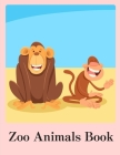 Zoo Animals Book: Coloring Pages Christmas Book, Creative Art Activities for Children, kids and Adults Cover Image