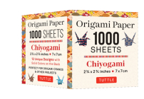 Origami Paper Chiyogami 1,000 Sheets 2 3/4 in (7 CM): Tuttle Origami Paper: High-Quality Double-Sided Origami Sheets Printed with 12 Designs (Instruct Cover Image