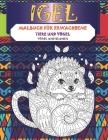 Malbuch für Erwachsene - Vögel und Blumen - Tiere und Vögel - Igel Cover Image