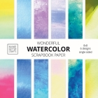 Wonderful Watercolor Scrapbook Paper: 8x8 Designer Patterns for Decorative Art, DIY Projects, Homemade Crafts, Cool Art Ideas Cover Image