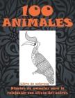 100 animales - Libro de colorear - Diseños de animales para la relajación con alivio del estrés Cover Image
