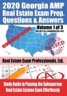 2020 Georgia AMP Real Estate Exam Prep Questions and Answers: Study Guide to Passing the Salesperson Real Estate License Exam Effortlessly [Volume 1 o Cover Image