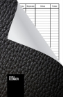 Simple Ledger: Cash Book,120 pages, Simple Income Expense Book, Black Leather Look, Durable Softcover Cover Image