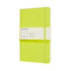 Moleskine Classic  Notebook, Large, Plain, Lemon Green, Soft Cover (5 x 8.25) Cover Image