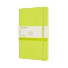Moleskine Classic Notebook, Large, Plain, Lemon Green, Soft Cover (5 x 8.25) Cover Image