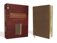 Nkjv, Thompson Chain-Reference Bible, Leathersoft, Brown, Red Letter Cover Image