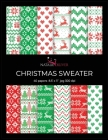 Christmas Sweater: Scrapbooking, Design and Craft Paper, 40 sheets, 12 designs, size 8.5
